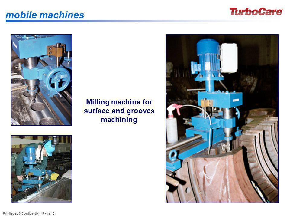 Milling machine for surface and grooves machining