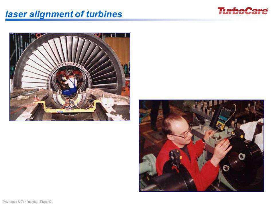 laser alignment of turbines