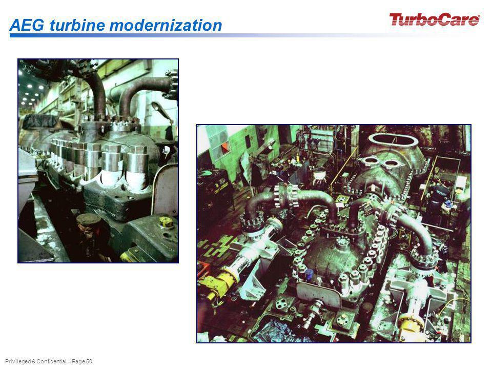 AEG turbine modernization
