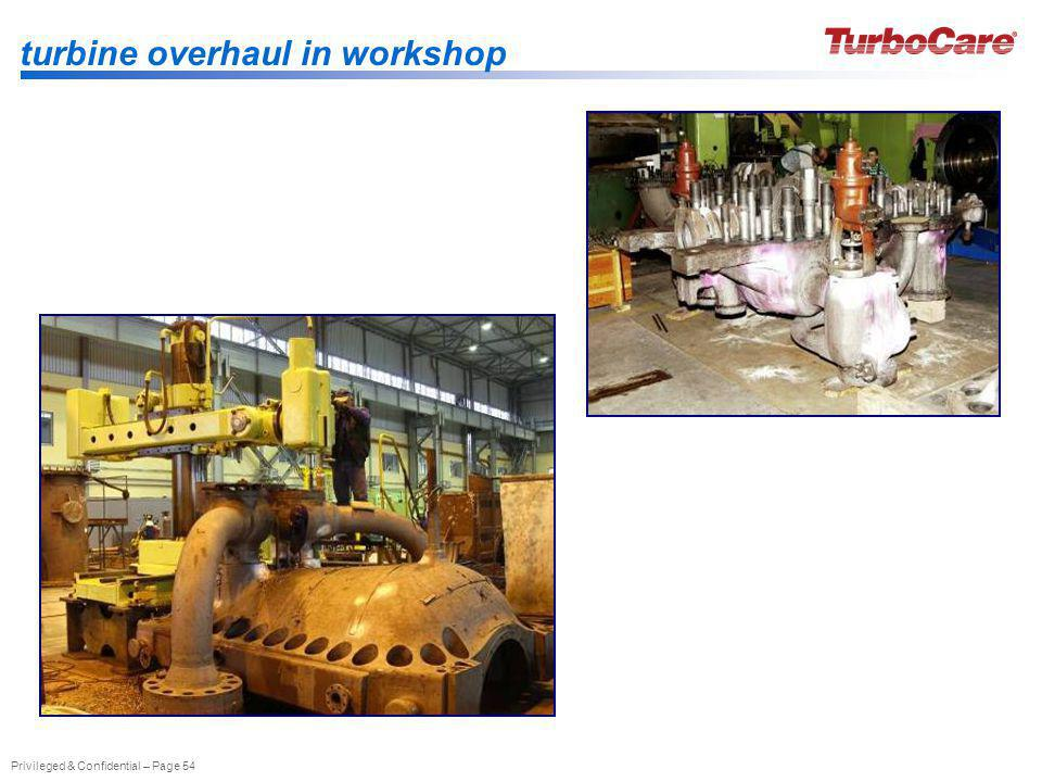 turbine overhaul in workshop