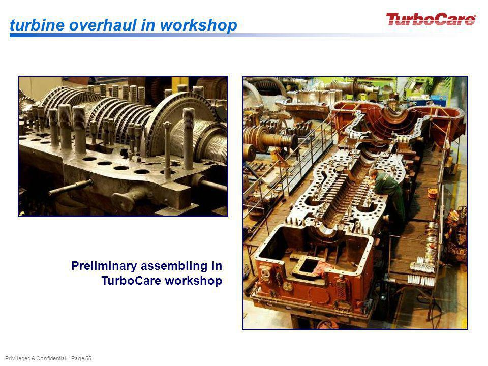 turbine overhaul in workshop