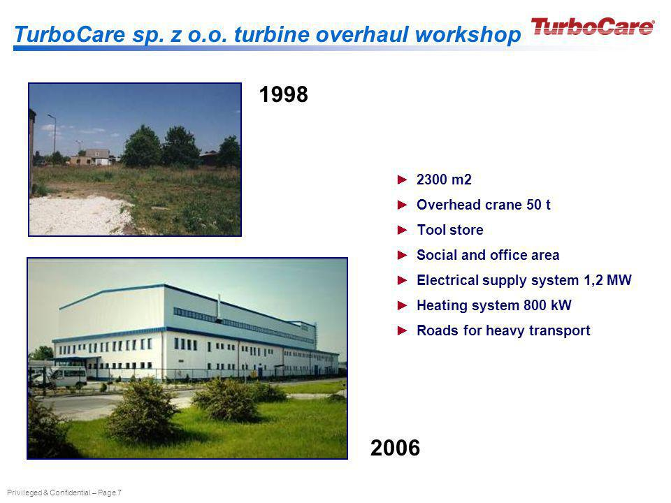 TurboCare sp. z o.o. turbine overhaul workshop