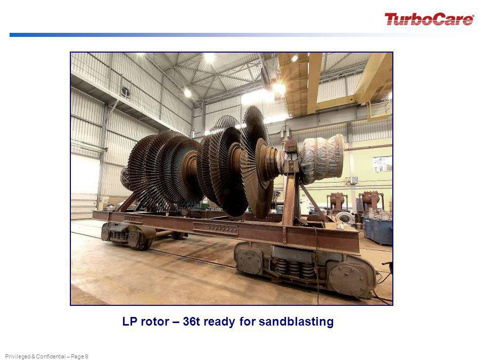 LP rotor – 36t ready for sandblasting