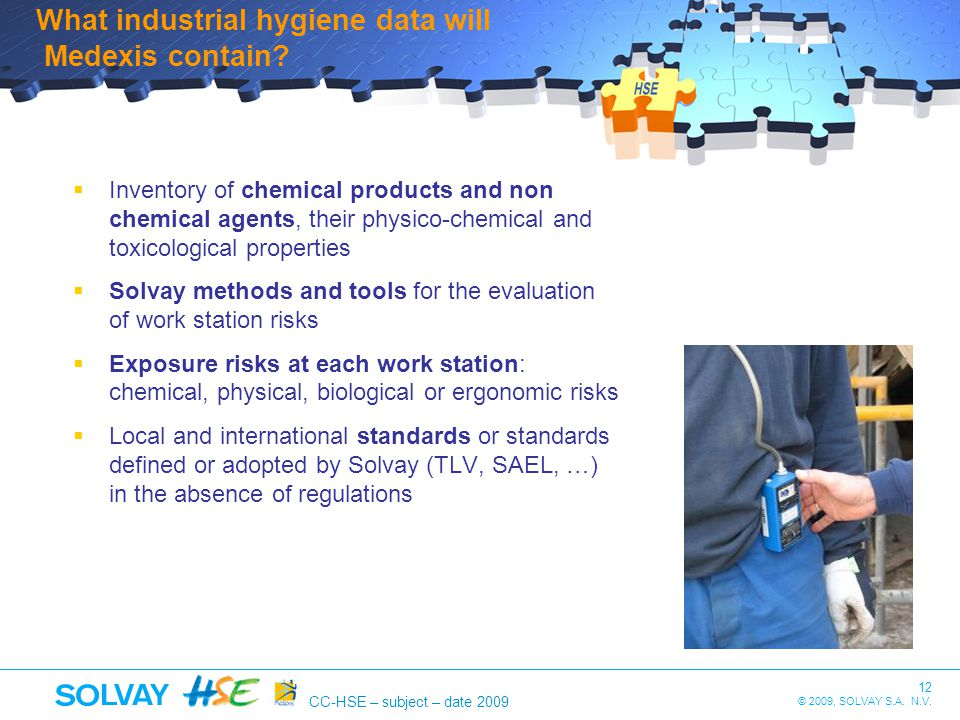 What industrial hygiene data will Medexis contain