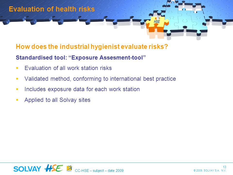 Evaluation of health risks
