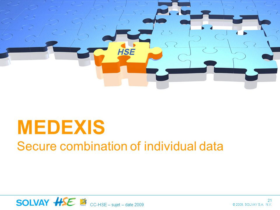 MEDEXIS Secure combination of individual data