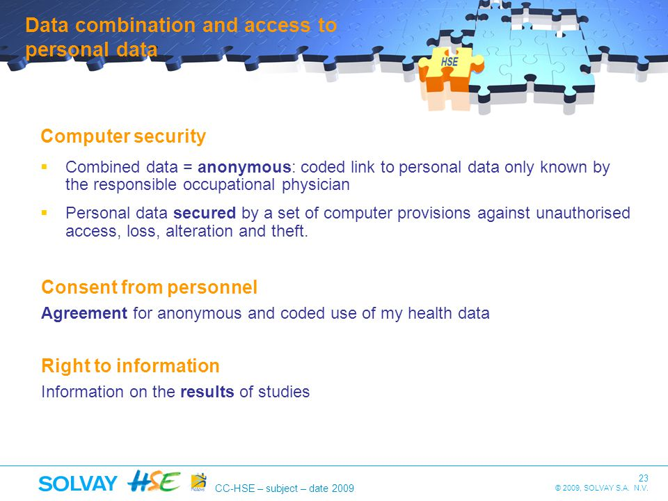 Data combination and access to personal data