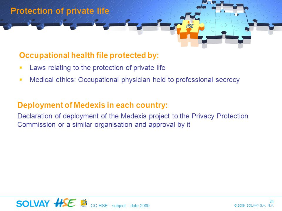 Protection of private life