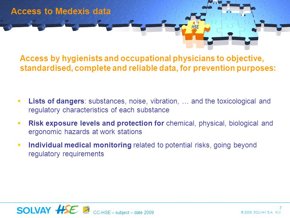 Access to Medexis data