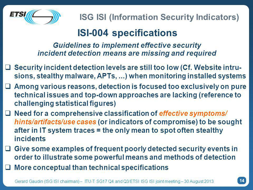 ISI-004 specifications