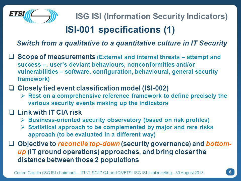 ISI-001 specifications (1)