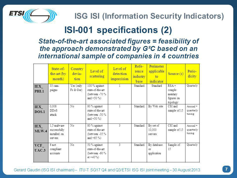 ISI-001 specifications (2)