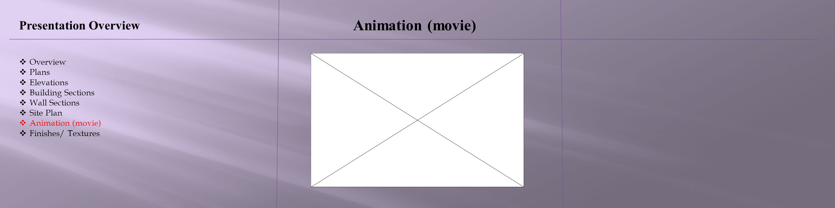 Animation (movie) Presentation Overview Overview Plans Elevations