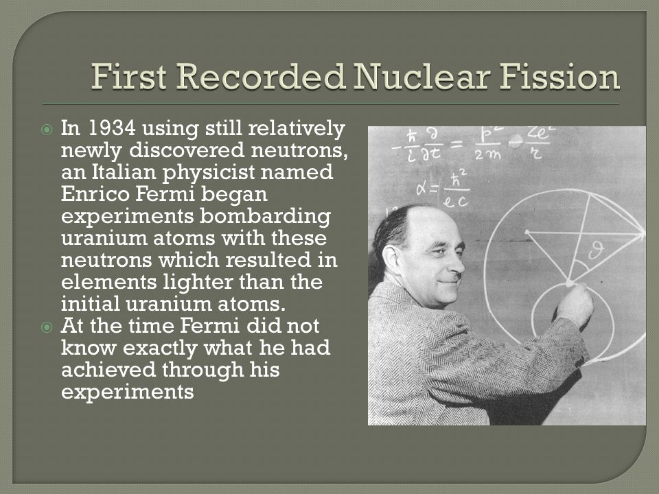 First Recorded Nuclear Fission