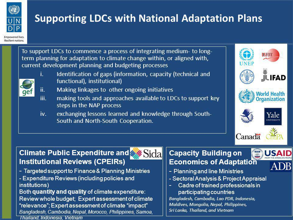 Supporting LDCs with National Adaptation Plans