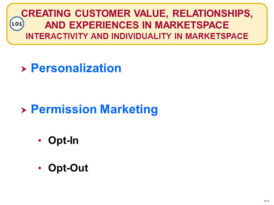 Personalization Permission Marketing Opt-In Opt-Out