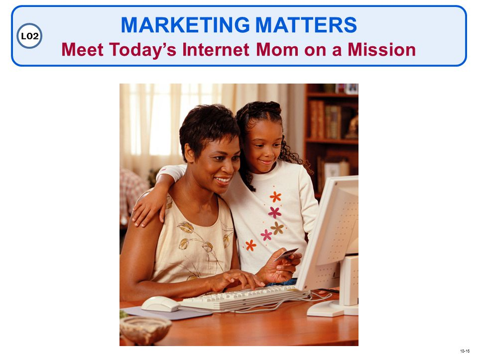 MARKETING MATTERS Meet Today's Internet Mom on a Mission