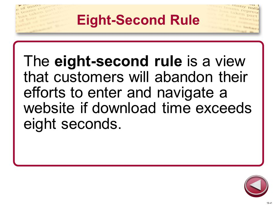 Eight-Second Rule