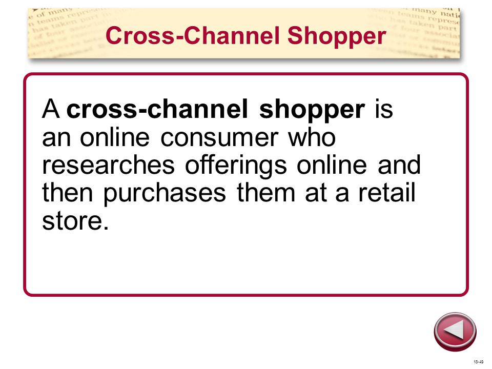 Cross-Channel Shopper