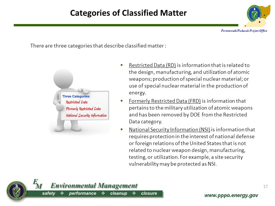 Categories of Classified Matter