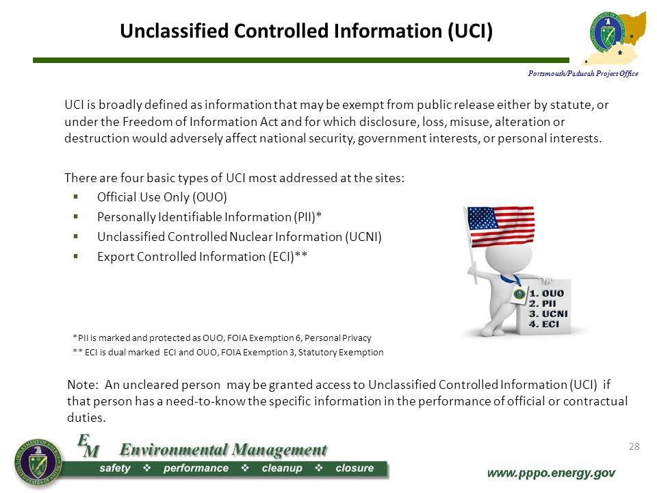 Unclassified Controlled Information (UCI)