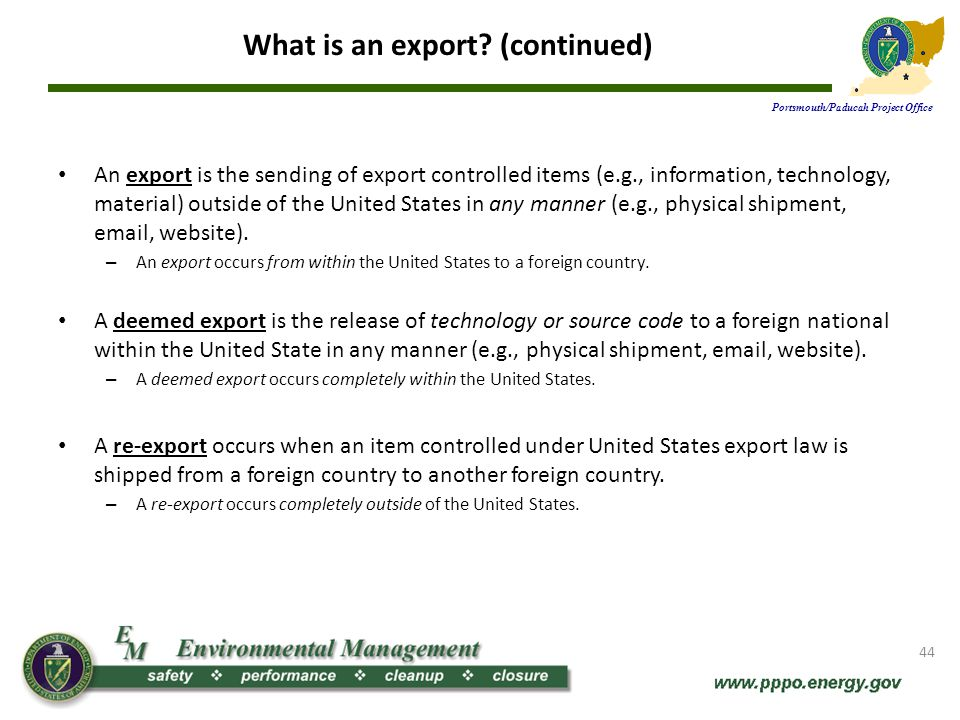 What is an export (continued)