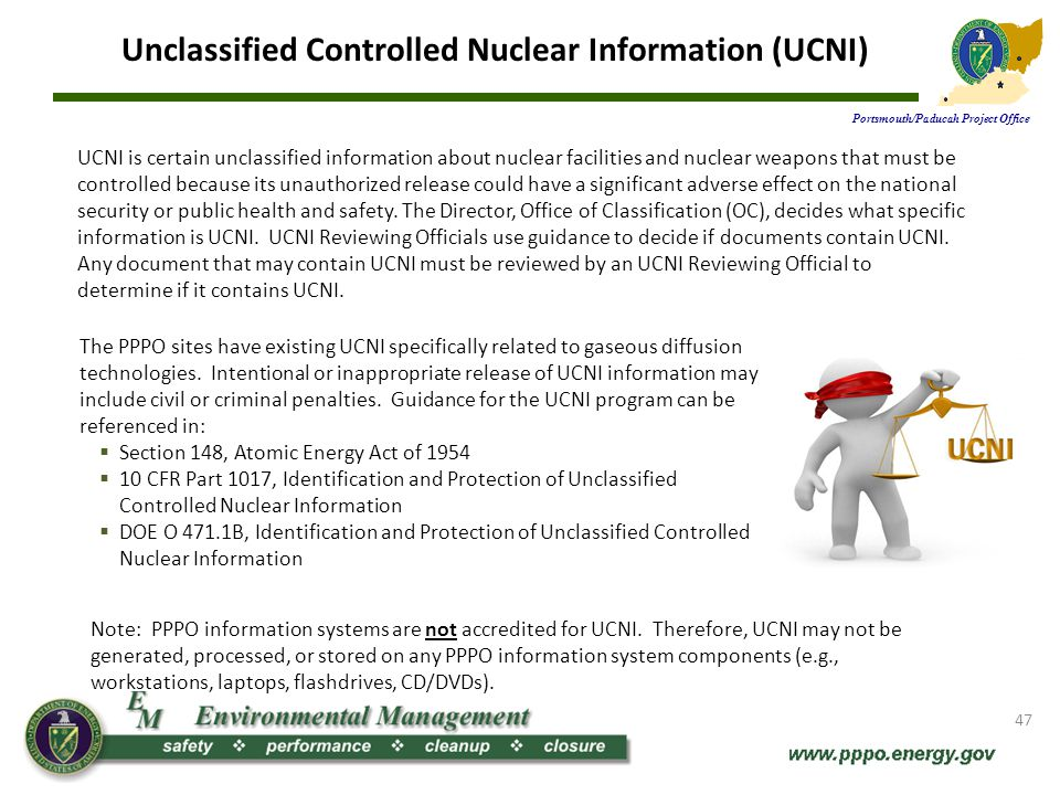 Unclassified Controlled Nuclear Information (UCNI)