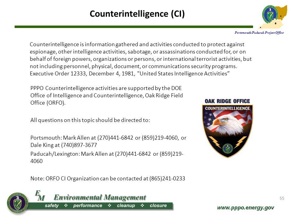 Counterintelligence (CI)