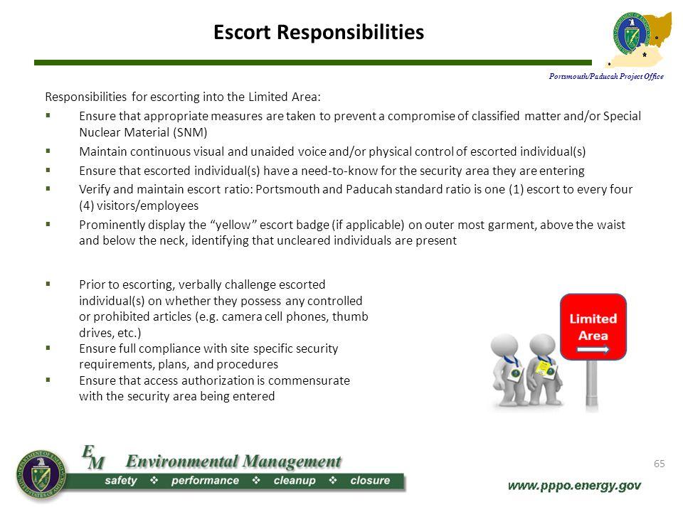 Escort Responsibilities