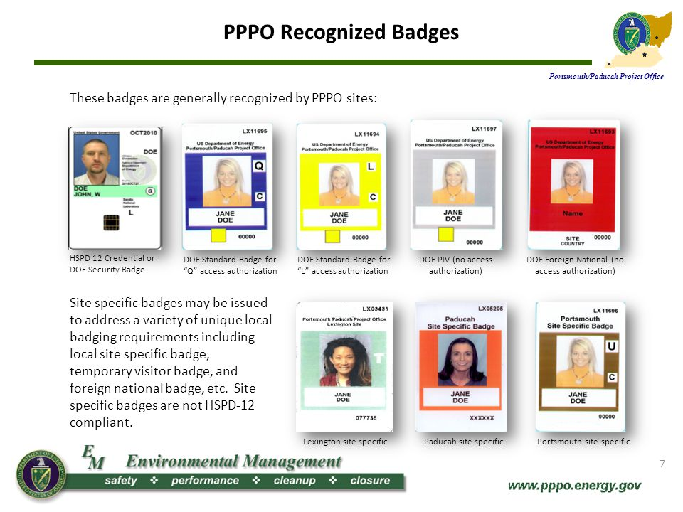 PPPO Recognized Badges