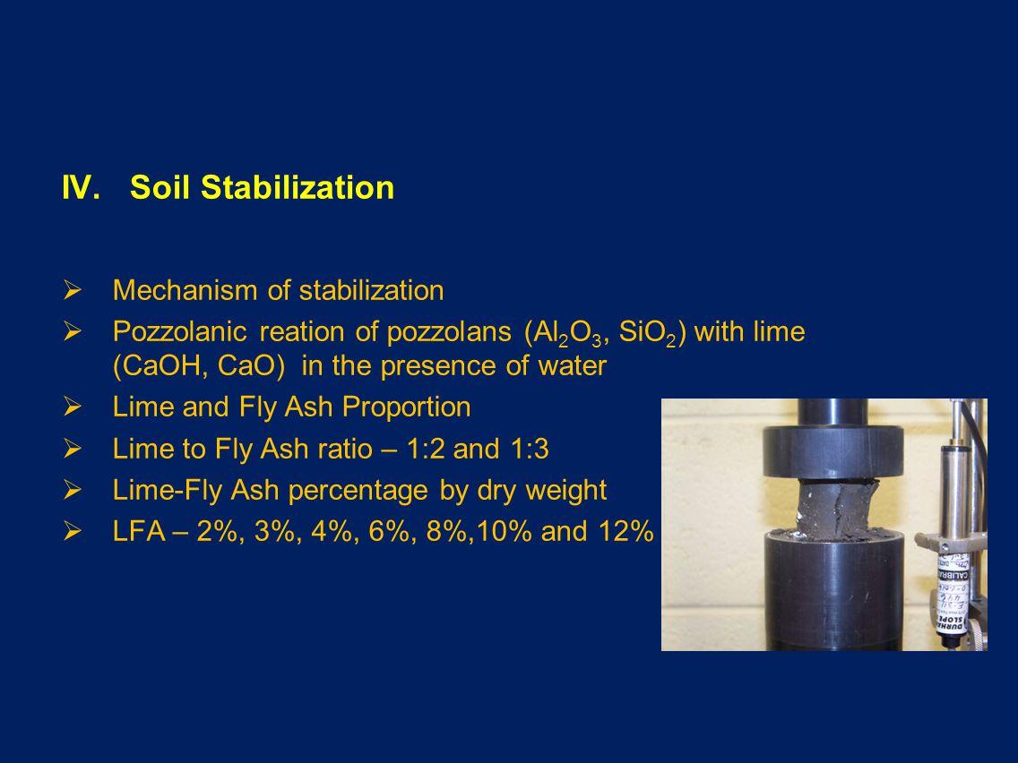 IV. Soil Stabilization Mechanism of stabilization