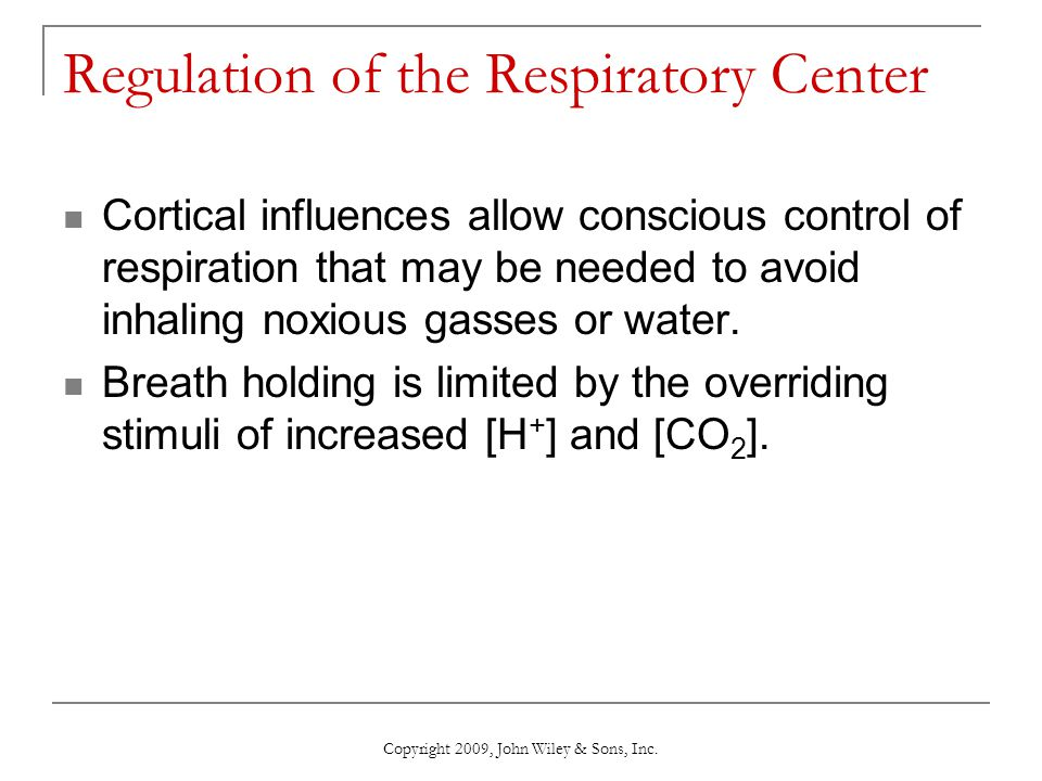 Regulation of the Respiratory Center