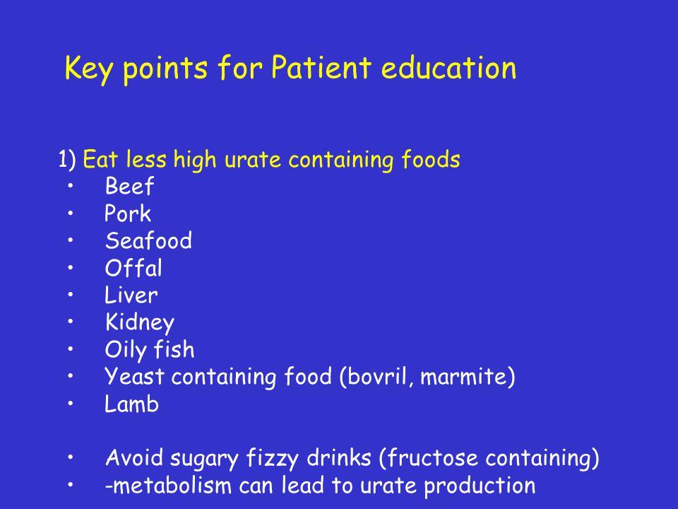 Key points for Patient education
