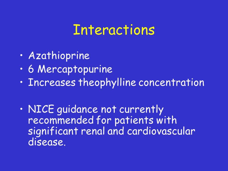 Interactions Azathioprine 6 Mercaptopurine