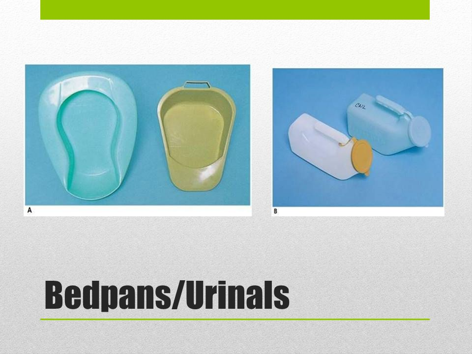 Bedpans/Urinals