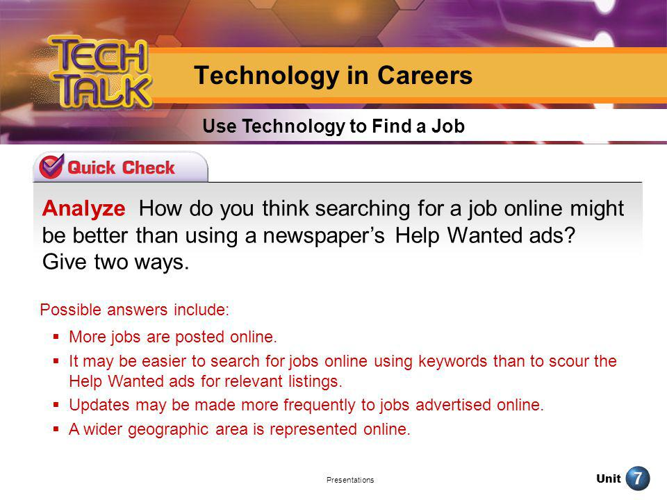 Use Technology to Find a Job