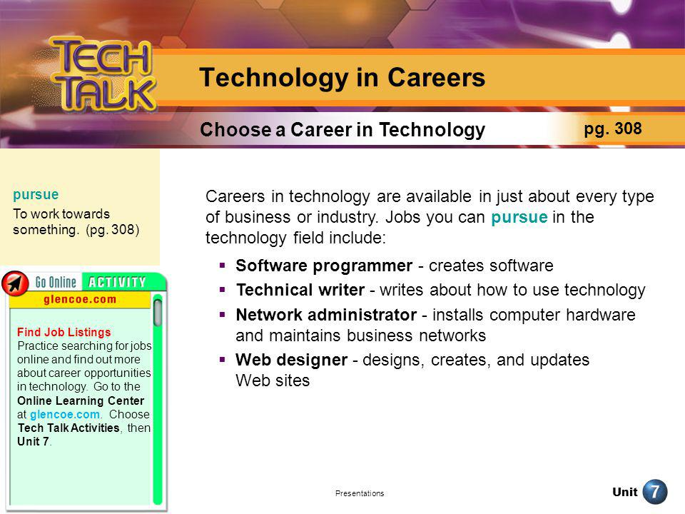 Choose a Career in Technology