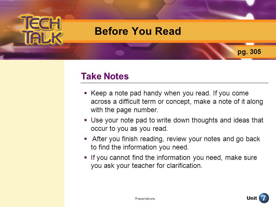 Before You Read Take Notes pg. 305