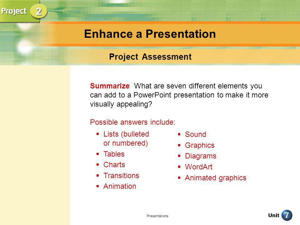 Enhance a Presentation