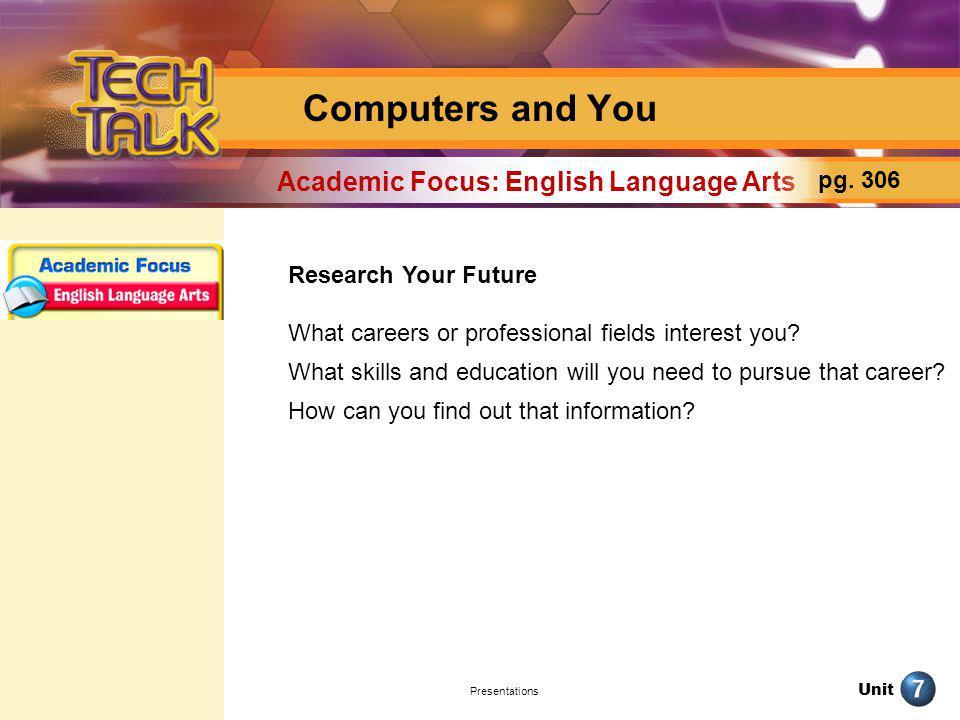 Academic Focus: English Language Arts