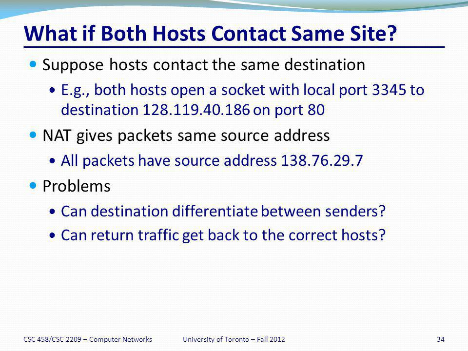 What if Both Hosts Contact Same Site