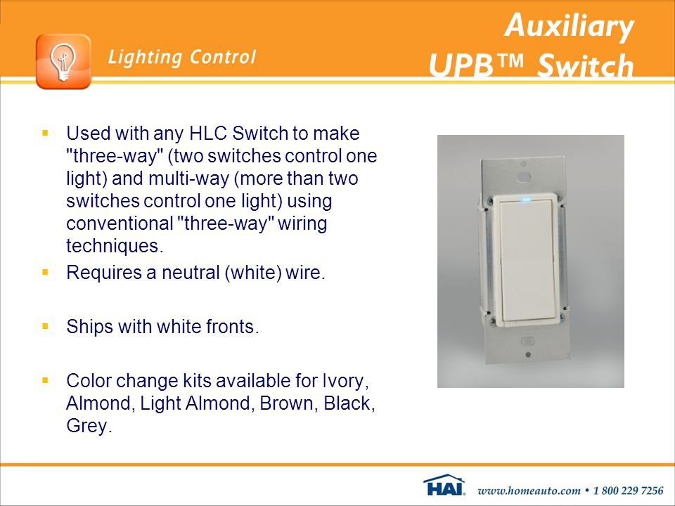 Auxiliary UPB™ Switch