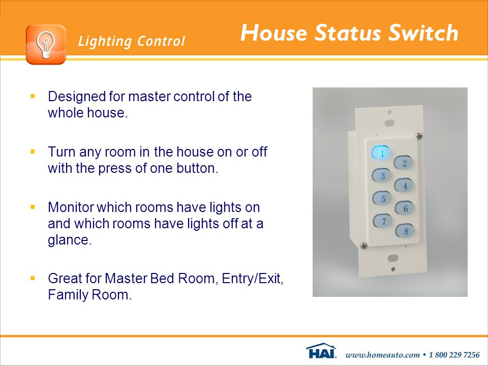 House Status Switch Designed for master control of the whole house.