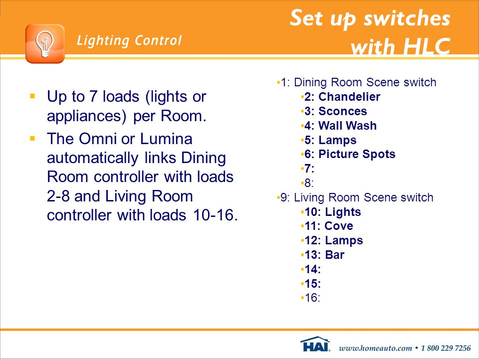 Set up switches with HLC