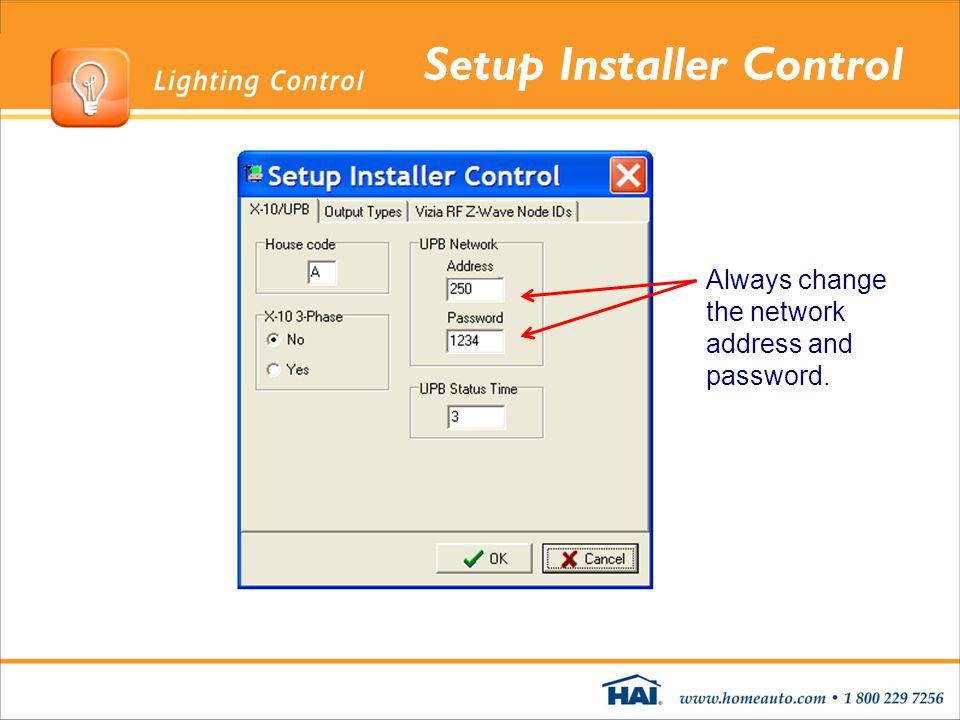 Setup Installer Control
