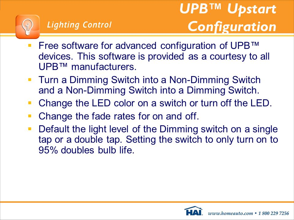 UPB™ Upstart Configuration