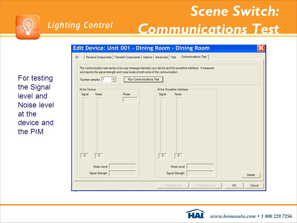 Scene Switch: Communications Test