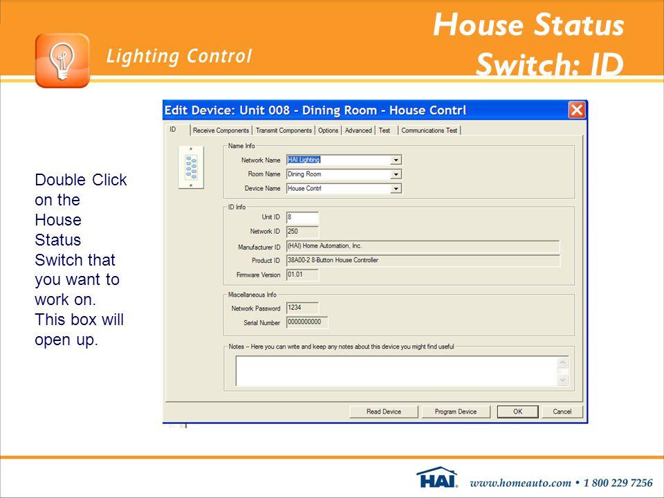 House Status Switch: ID