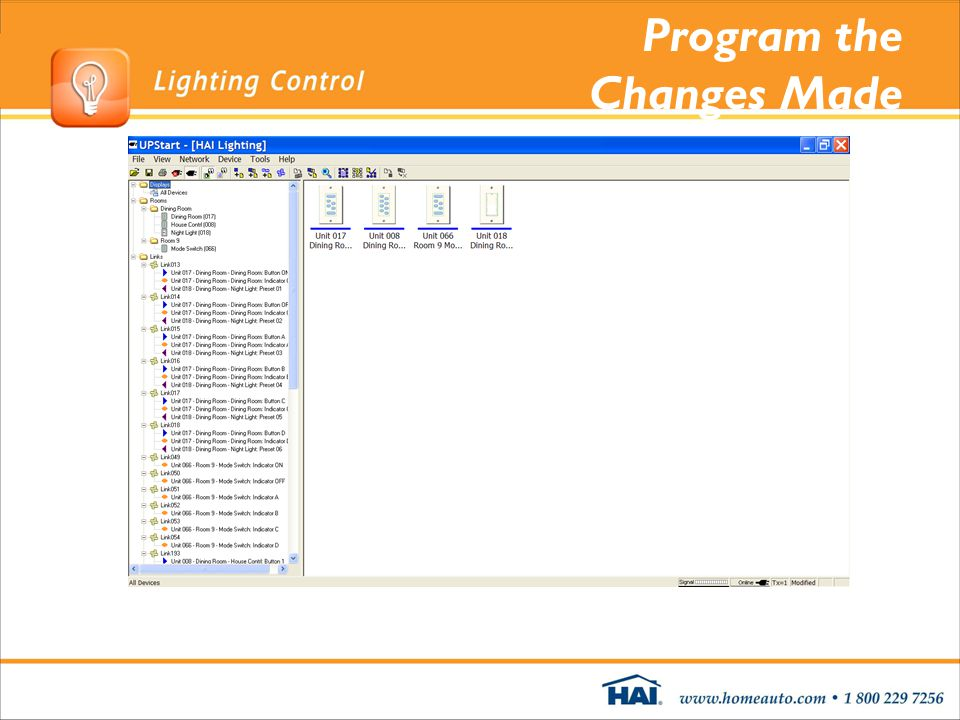 Program the Changes Made
