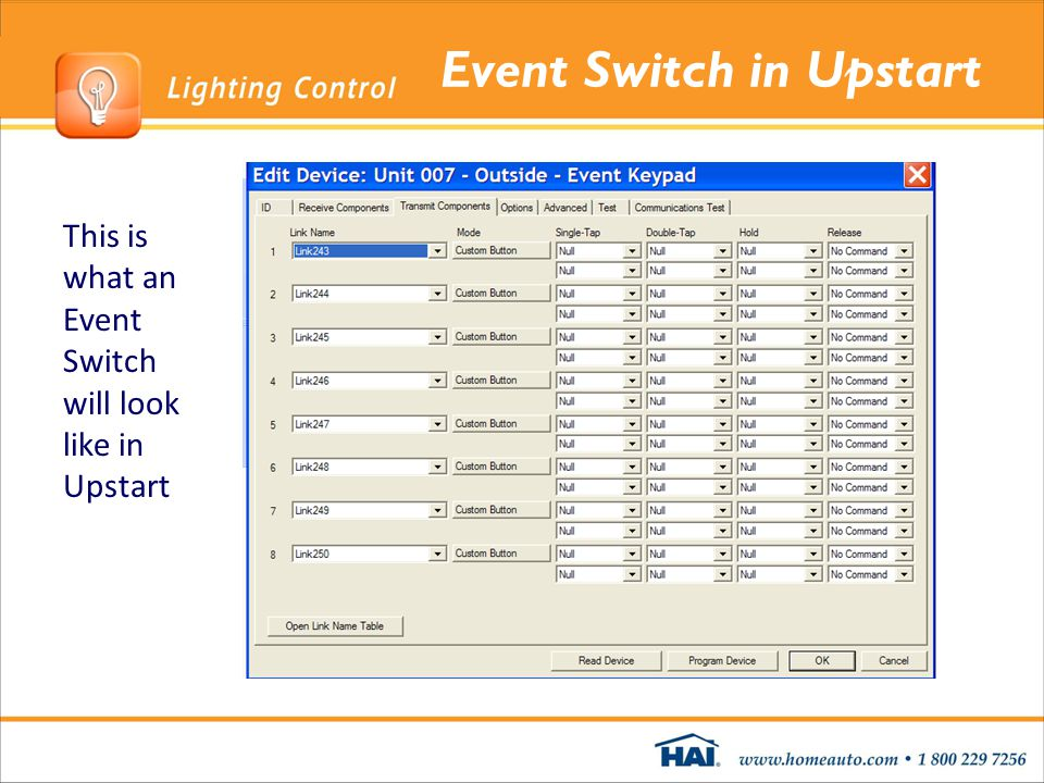 Event Switch in Upstart